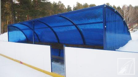 Размеры хоккейной площадки.